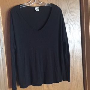 Haute Hippie black long sleeved top